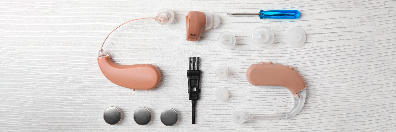 Hörgeräte-Set mit Zubehör
